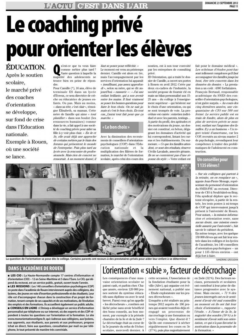 Orientation Rouen, orientation Le Havre, orientation Caen, orientation Dieppe, Orientation Evreux
